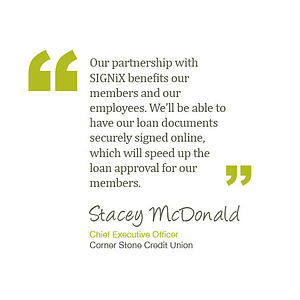 Corner Stone Credit Union picks SIGNiX as digital signature provider