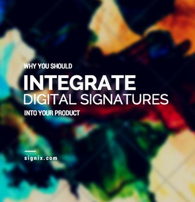 DIGITAL signature integration