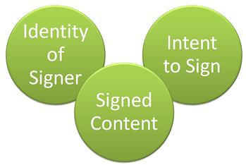 electronic signature elements