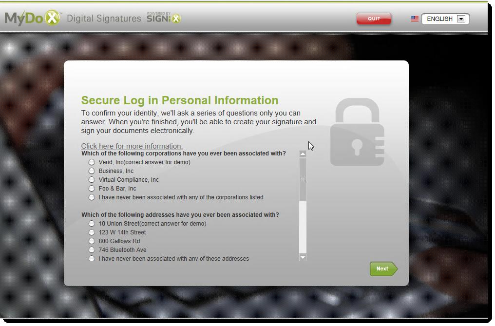 electronic signature authentication