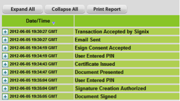 e-signature audit log