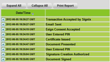 e-signature audit log