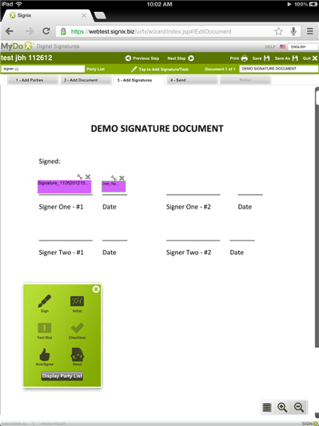 The new interface makes it easier for users to drag and drop signatures and other tasks onto a document.