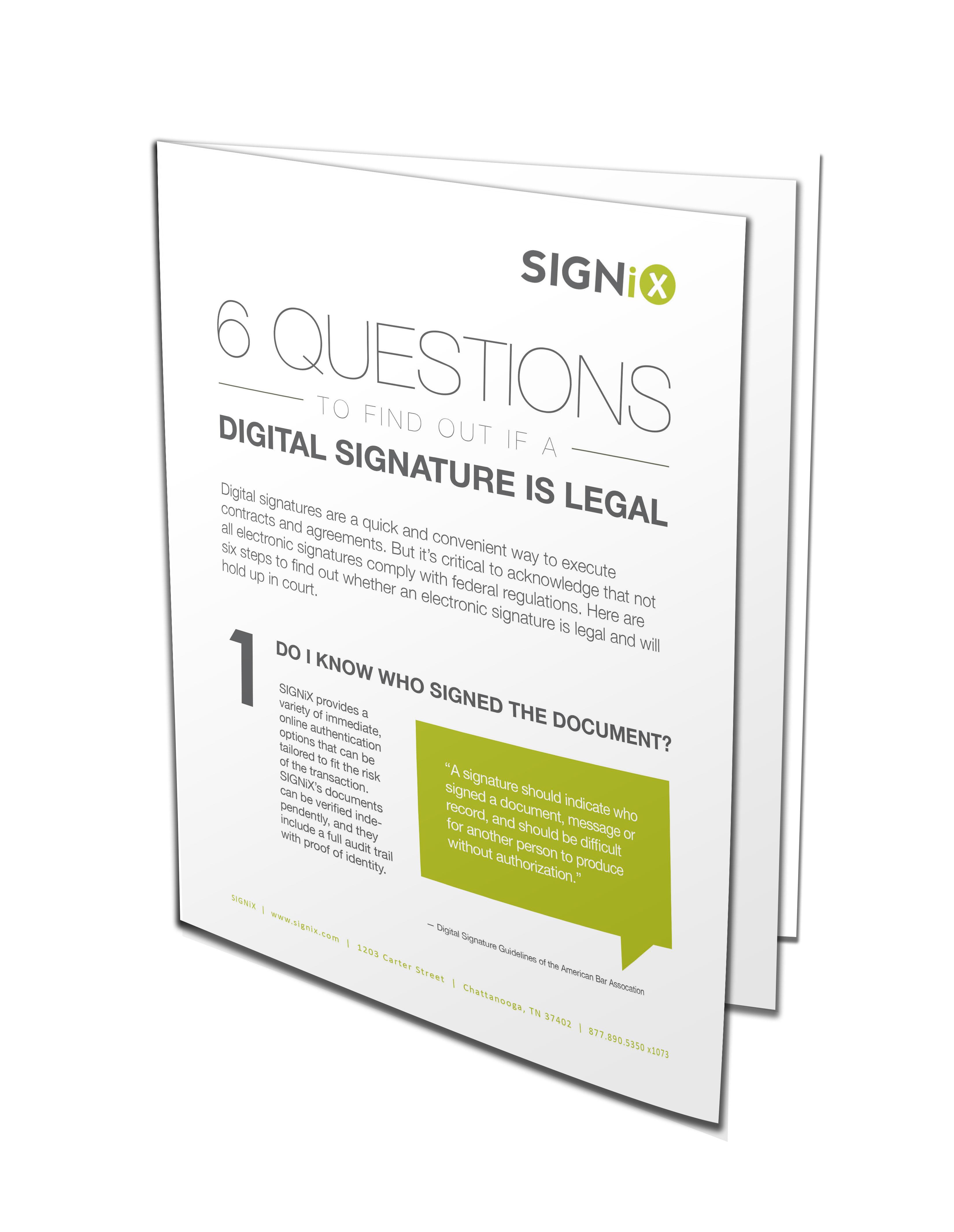 what makes a digital signature legal