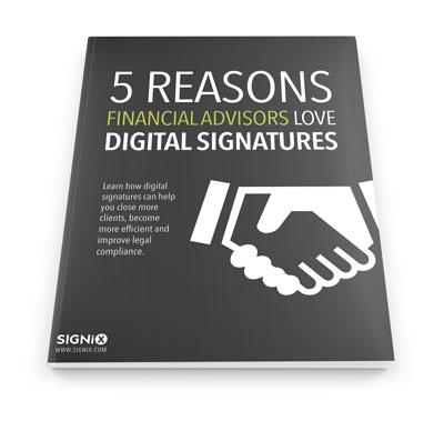digital signatures financial advisors
