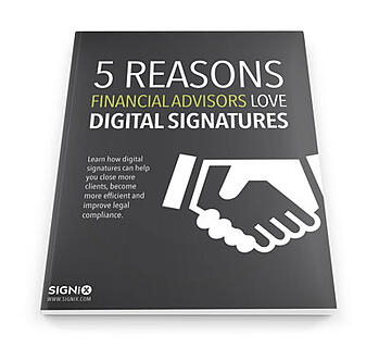 digital signatures financial advisors