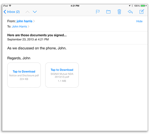 How to View SIGNiX Digitally Signed Documents on Mobile Devices