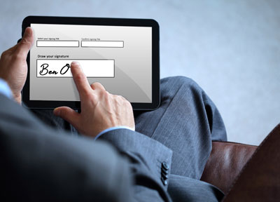 sign documents on iPad