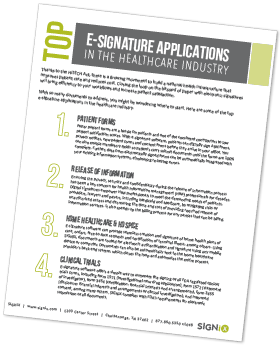 e-signatures for healthcare