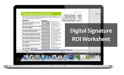 SIGNiX Releases Free Digital Signature ROI Worksheet