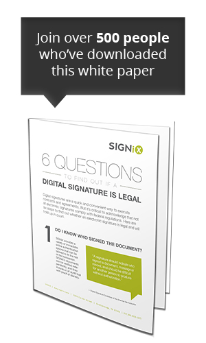 digital signature legal