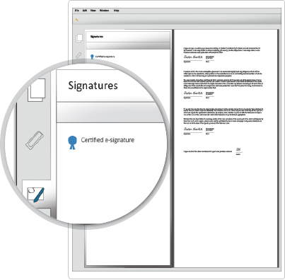 digital signature audit trail