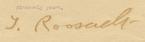 705401 Theodore Roosevelt signature