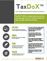 Get tax forms signed online with TaxDoX™