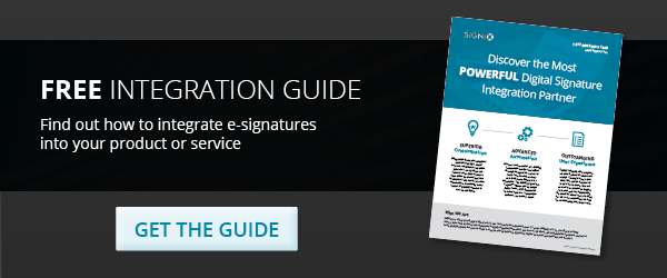 get the free e-signature integration guide