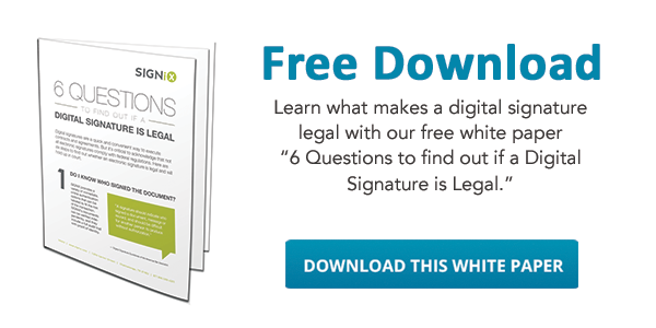 What makes a digital signature legal?