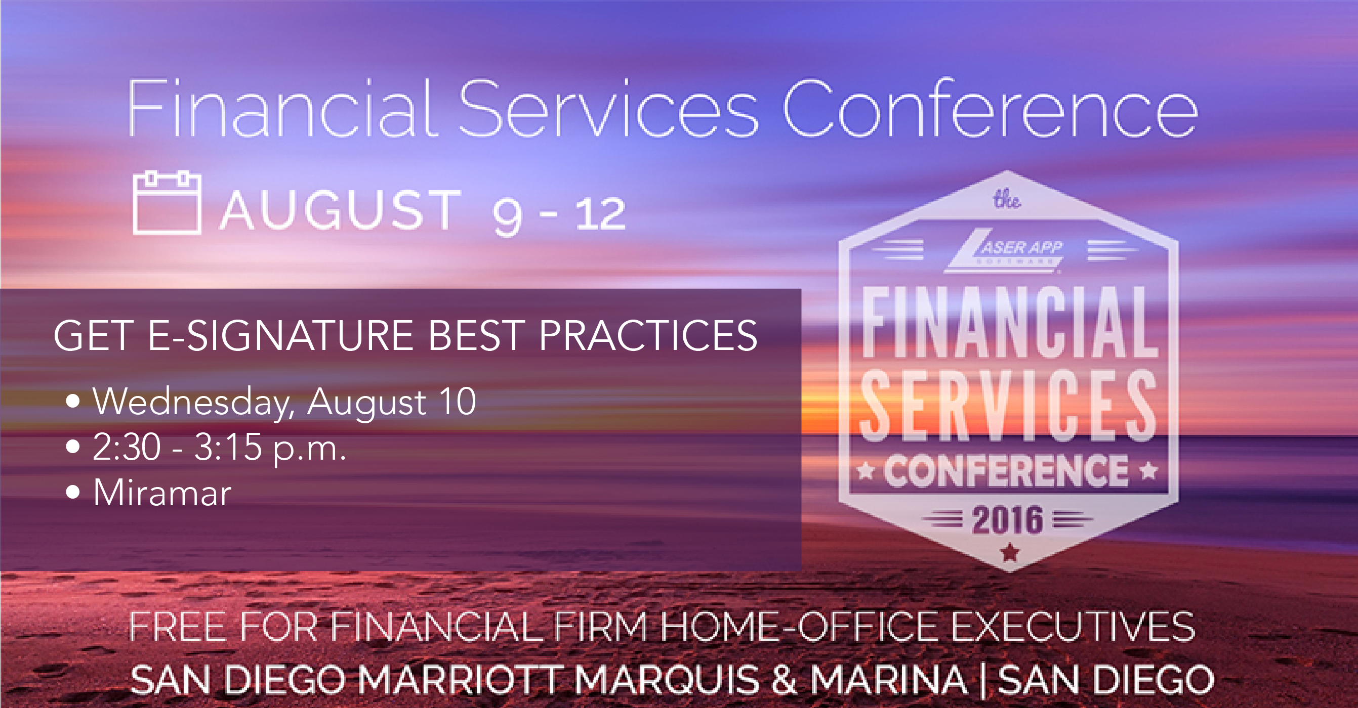 SIGNiX to Speak About E-Signatures During the 2016 Laser App Financial Services Conference